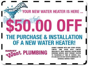 Harvey West Plumbing Coupon Wylie TX